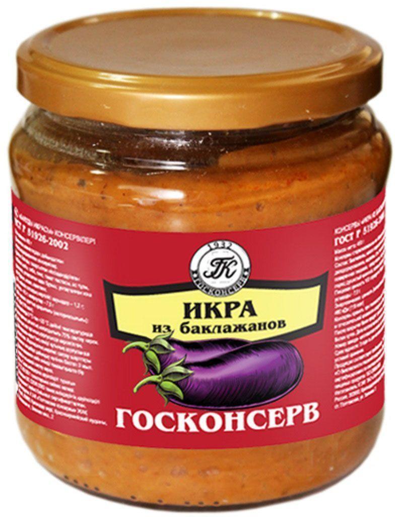 Госконсерв икра баклажановая, 450 мл икра русский рыбный мир