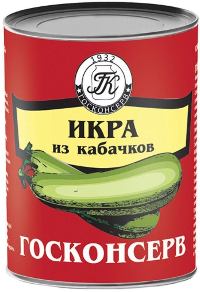 Госконсерв икра кабачковая, 360 г икра русский рыбный мир