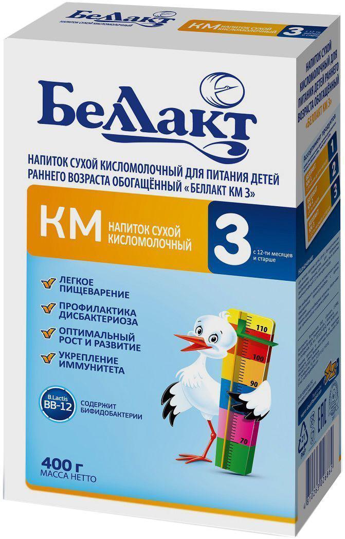 Беллакт КМ 3 смесь молочная сухая с 12 месяцев, 400 г беллакт кашка молочная стерилизованная гречневая 207 г
