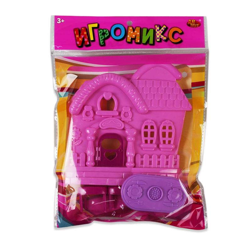 ABtoysМебель для кукол Домик цвет розовый ABtoys