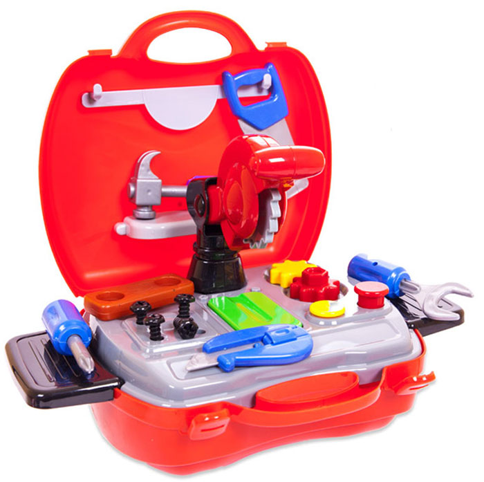 ABtoys Игровой набор Чудо-чемоданчик Набор инструментов 19 предметов abtoys со стрелами на присосках