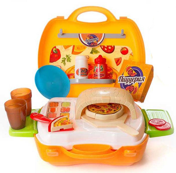 цена на ABtoys Игровой набор Чудо-чемоданчик Пиццерия 22 предмета