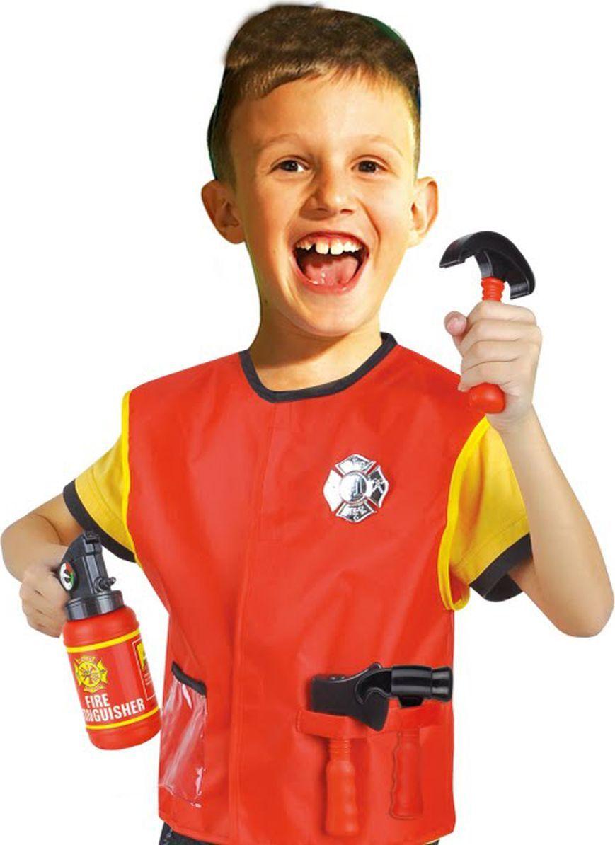 Город игр Костюм игровой Пожарник с аксессуарами - Сюжетно-ролевые игрушки