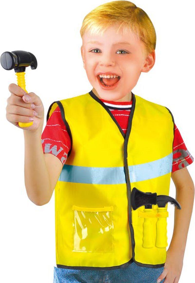 Город игр Карнавальный костюм для мальчика Строитель с аксессуарами