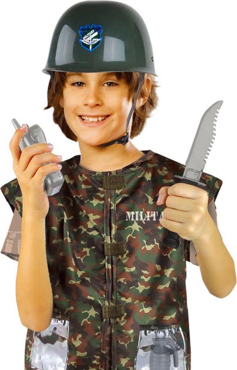 Город игр Карнавальный костюм для мальчика Военный с аксессуарами