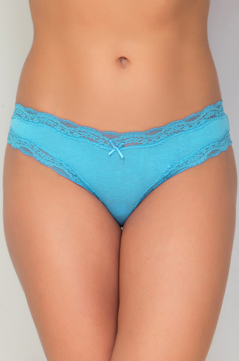 Трусы женские Vis-A-Vis, цвет: голубой. DSL1131. Размер L (48) vis a vis vis a vis vi003ewhna18