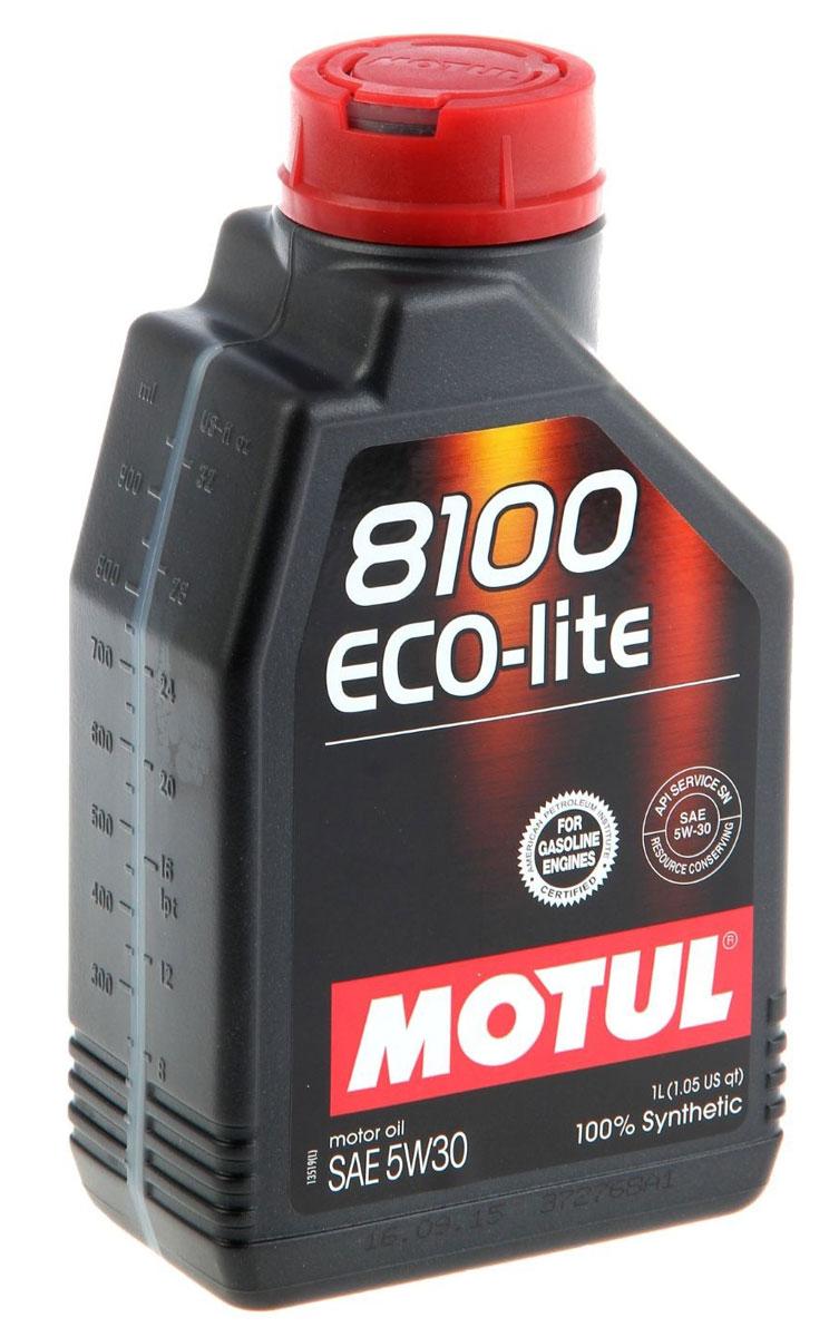 Масло моторное Motul 8100 Eco-Lite, синтетическое, 5W-30, 1 л. 104987104987100% синтетическое энергосберегающее моторное масло для современных бензиновых двигателей Honda, Subaru и Toyota, а так же других азиатских производителей, требующих масло класса вязкости 30.API Стандарты: API SERVICES SN; ILSAC GF-5 Одобрения: GM-dexos1