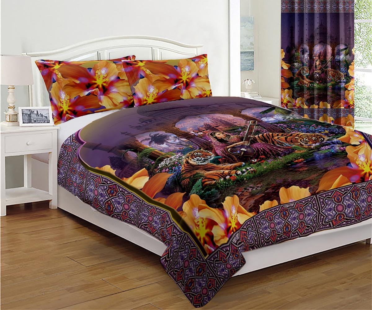 Покрывало МарТекс Тадж Махал, 200 х 220 см05-0543-3Покрывало МарТекс станет изысканным дополнением интерьера спальни. Яркое покрывало изготовлено из качественного полиэстера.Покрывало не только согреет, но и создаст неповторимый уют в вашей спальне. Мягкий, теплый, приятный на ощупь материал делает покрывало хорошей заменой пледу.