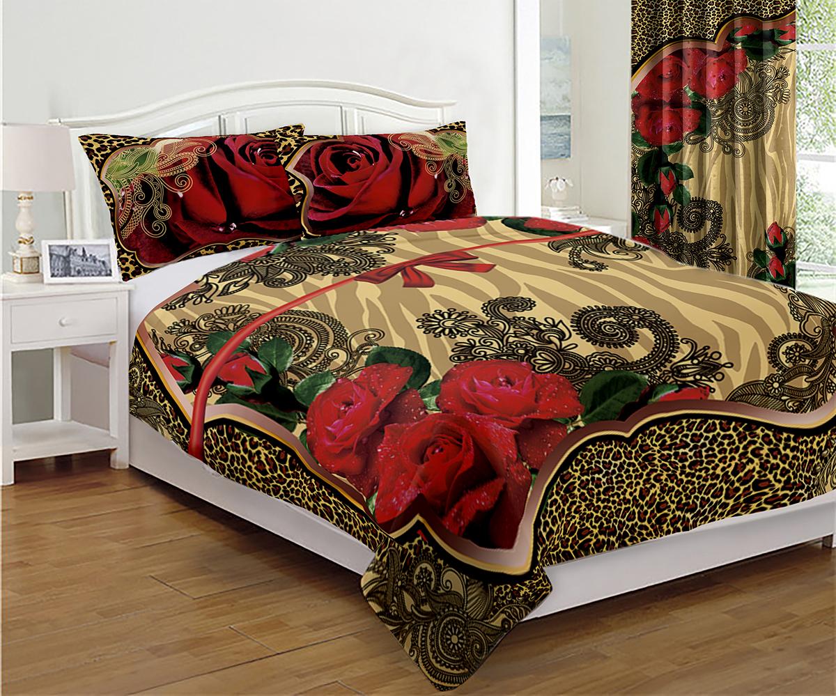Комплект для спальни МарТекс Восток: покрывало 200 х 220 см, 2 наволочки 50 х 70 см покрывало на кресло les gobelins mexique 50 х 120 см