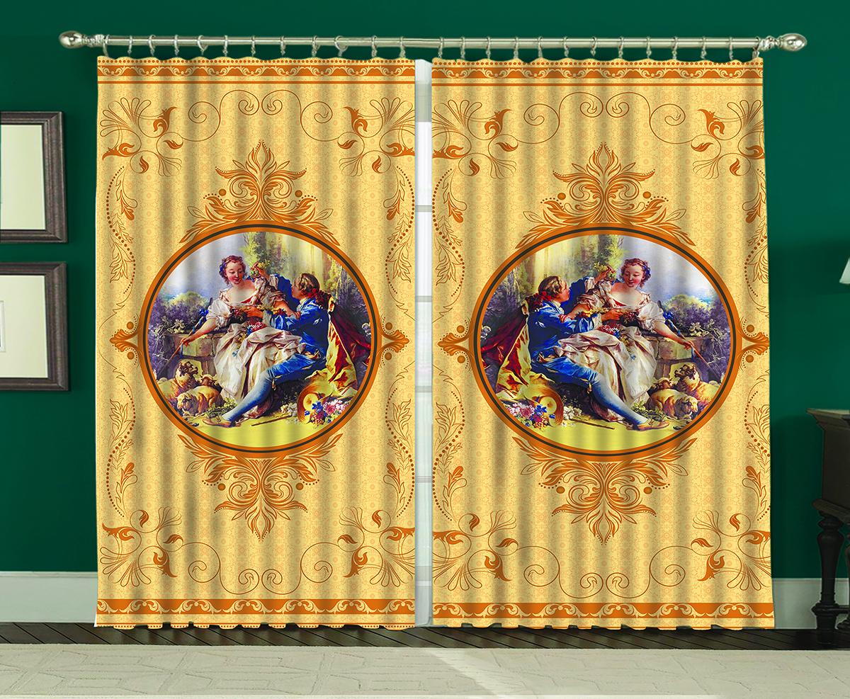Комплект штор МарТекс Аурель Голден, 150 х 270 см16-0450-1Комплект штор МарТекс, выполненный из качественного полиэстера, великолепно украсит любое окно. Комплект состоит из двух штор. Ткань с печатным оригинальным рисунком привлечет к себе внимание и органично впишется в интерьер помещения. Этот комплект будет долгое время радовать вас и вашу семью!В комплекте: 2 шторы.
