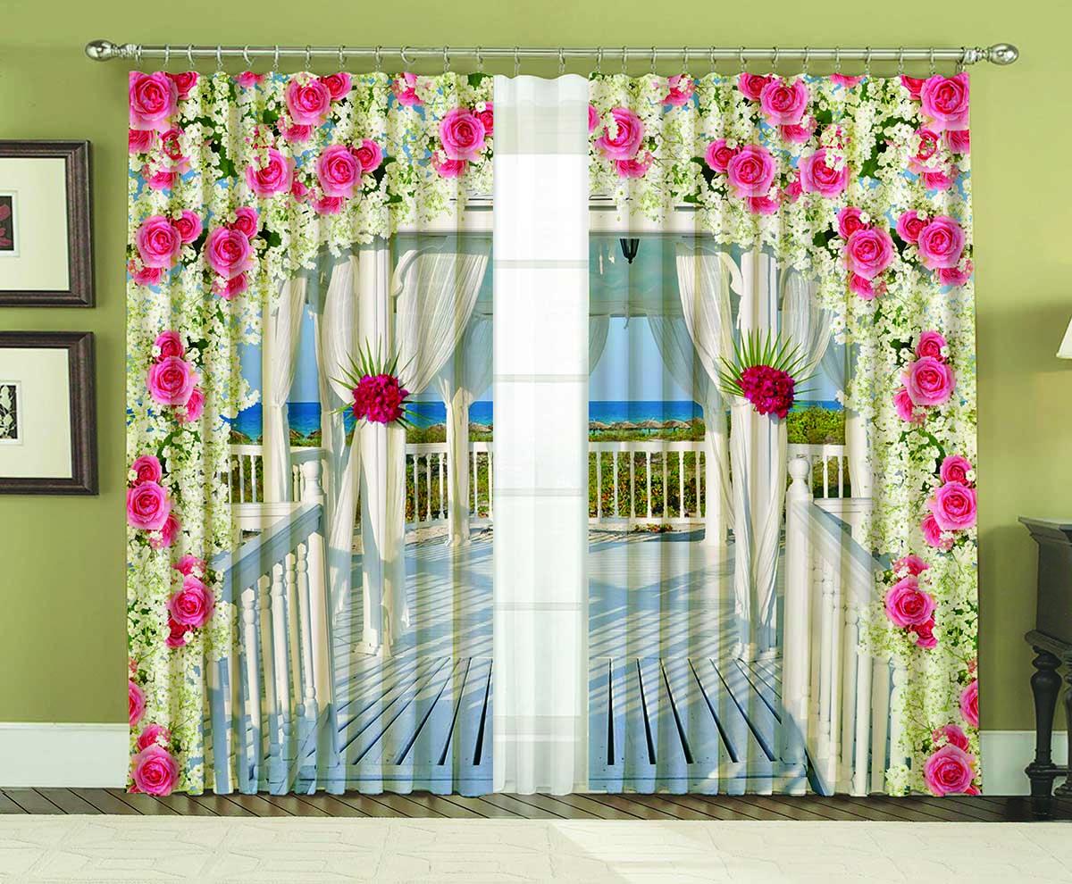 Комплект штор МарТекс Аделаида, цвет: белый, розовый, высота 250 см16-0637-1Комплект штор МарТекс Аделаида, выполненный из качественного габардина, великолепно украсит любое окно. Ткань с печатным оригинальным рисунком привлечет к себе внимание и органично впишется в интерьер помещения. Этот комплект будет долгое время радовать вас и вашу семью! В комплекте 2 шторы: ширина - 150 см,высота - 250 см.