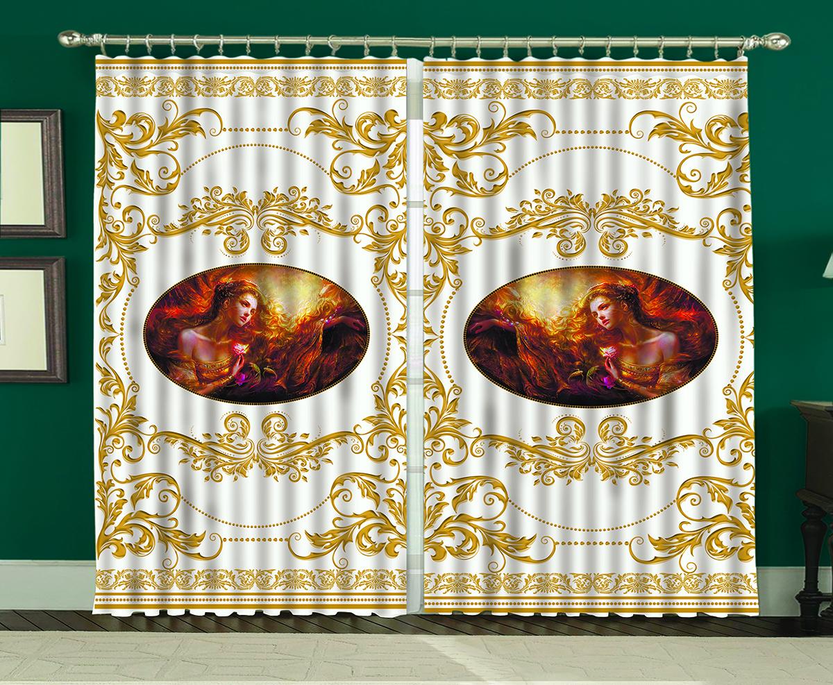 Комплект штор МарТекс Византия белая, 150 х 270 см16-0930-1Комплект штор МарТекс, выполненный из качественного полиэстера, великолепно украсит любое окно. Комплект состоит из двух штор. Ткань с печатным оригинальным рисунком привлечет к себе внимание и органично впишется в интерьер помещения. Этот комплект будет долгое время радовать вас и вашу семью!В комплекте: 2 шторы.
