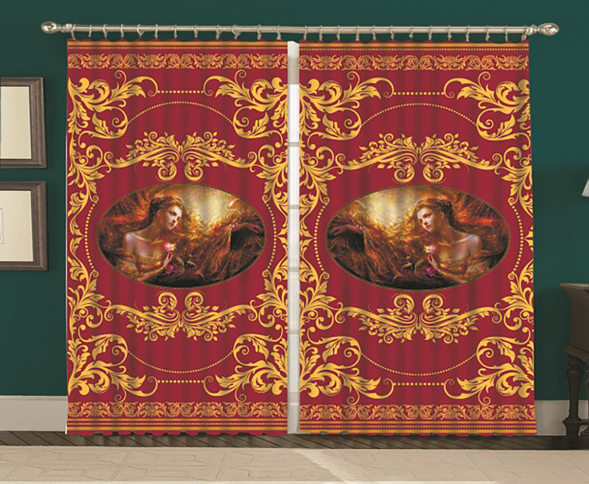 Комплект штор МарТекс Золотая Византия, цвет: бордовый, золотой, высота 270 см16-0933-1Комплект штор МарТекс Золотая Византия, выполненный из качественного габардина, великолепно украсит любое окно. Ткань с печатным оригинальным рисунком привлечет к себе внимание и органично впишется в интерьер помещения. Этот комплект будет долгое время радовать вас и вашу семью! В комплекте 2 шторы: ширина - 150 см,высота - 270 см.