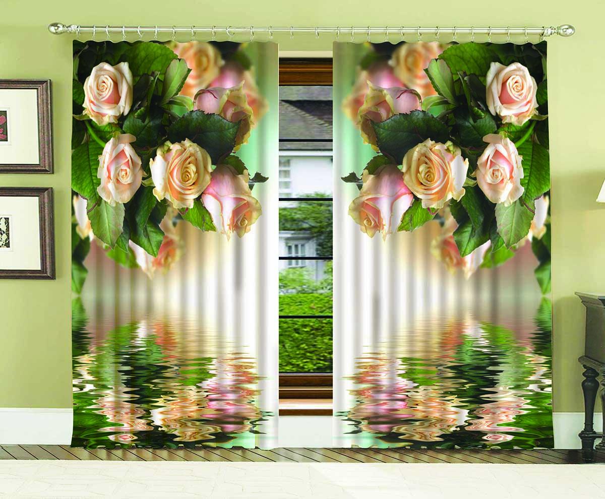 Комплект штор МарТекс Санетте, 150 х 270 см16-0961-1Комплект штор МарТекс, выполненный из качественного полиэстера, великолепно украсит любое окно. Комплект состоит из двух штор. Ткань с печатным оригинальным рисунком привлечет к себе внимание и органично впишется в интерьер помещения. Этот комплект будет долгое время радовать вас и вашу семью!В комплекте: 2 шторы.