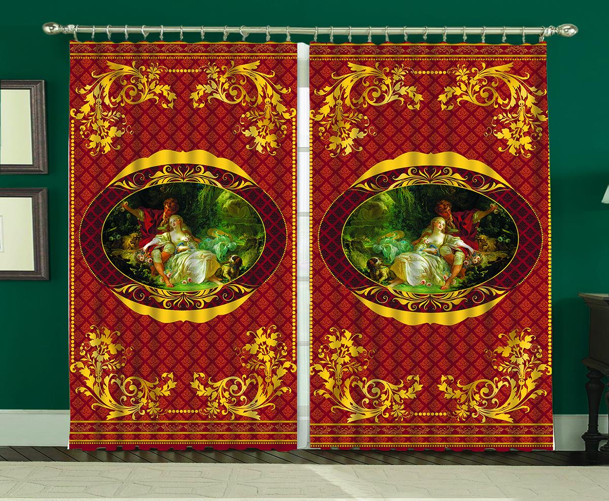 Комплект штор МарТекс Импрессио, 150 х 270 см комплект штор мартекс ромашки 150 х 270 см