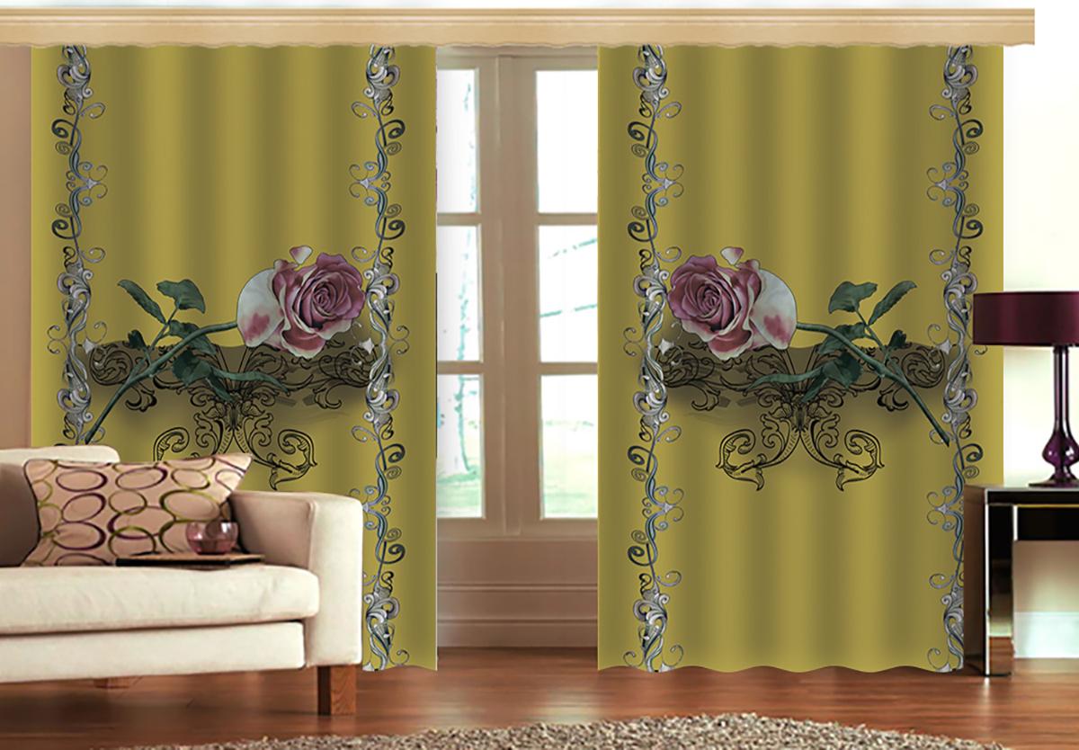 Комплект штор МарТекс Грин Роуз голд, цвет: зеленый, высота 270 см16-1224-1Комплект штор МарТекс Грин Роуз голд, выполненный из качественного габардина, великолепно украсит любое окно. Ткань с печатным оригинальным рисунком привлечет к себе внимание и органично впишется в интерьер помещения. Этот комплект будет долгое время радовать вас и вашу семью! В комплекте 2 шторы: ширина - 150 см,высота - 270 см.