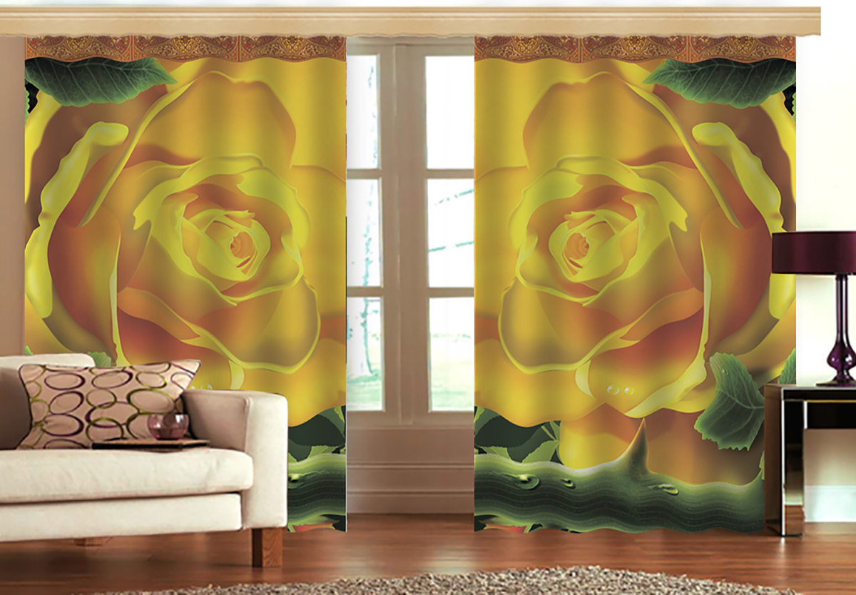 Комплект штор МарТекс Линет, цвет: зеленый, желтый, высота 270 см16-1226-1Комплект штор МарТекс Линет, выполненный из качественного габардина, великолепно украсит любое окно. Ткань с печатным оригинальным рисунком привлечет к себе внимание и органично впишется в интерьер помещения. Этот комплект будет долгое время радовать вас и вашу семью! В комплекте 2 шторы: ширина - 150 см,высота - 270 см.