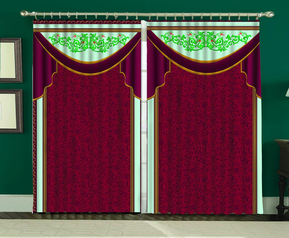 Комплект штор МарТекс Викторианский шик, 150 х 270 см комплект штор мартекс ромашки 150 х 270 см