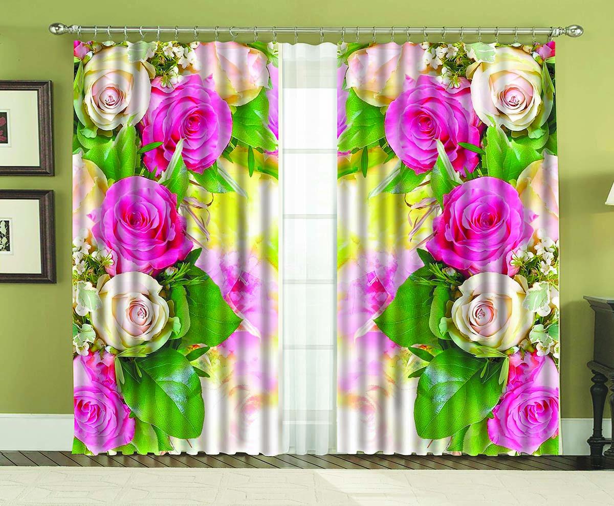 Комплект штор МарТекс Габи, 150 х 270 см16-1258-1Комплект штор МарТекс, выполненный из качественного полиэстера, великолепно украсит любое окно. Комплект состоит из двух штор. Ткань с печатным оригинальным рисунком привлечет к себе внимание и органично впишется в интерьер помещения. Этот комплект будет долгое время радовать вас и вашу семью!В комплекте: 2 шторы.