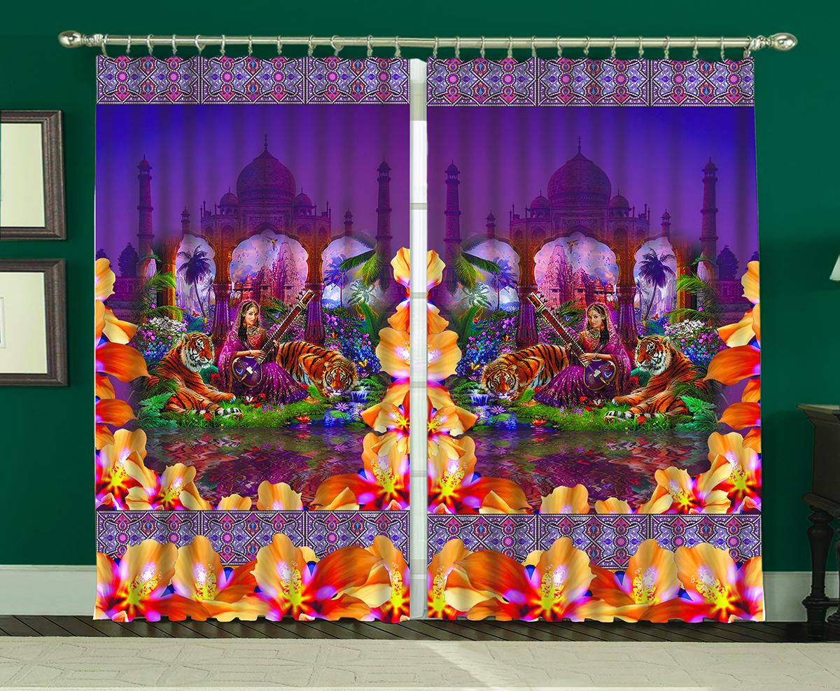 Комплект штор МарТекс Тадж Махал, 150 х 270 см16-1265-1Комплект штор МарТекс, выполненный из качественного полиэстера, великолепно украсит любое окно. Комплект состоит из двух штор. Ткань с печатным оригинальным рисунком привлечет к себе внимание и органично впишется в интерьер помещения. Этот комплект будет долгое время радовать вас и вашу семью!В комплекте: 2 шторы.