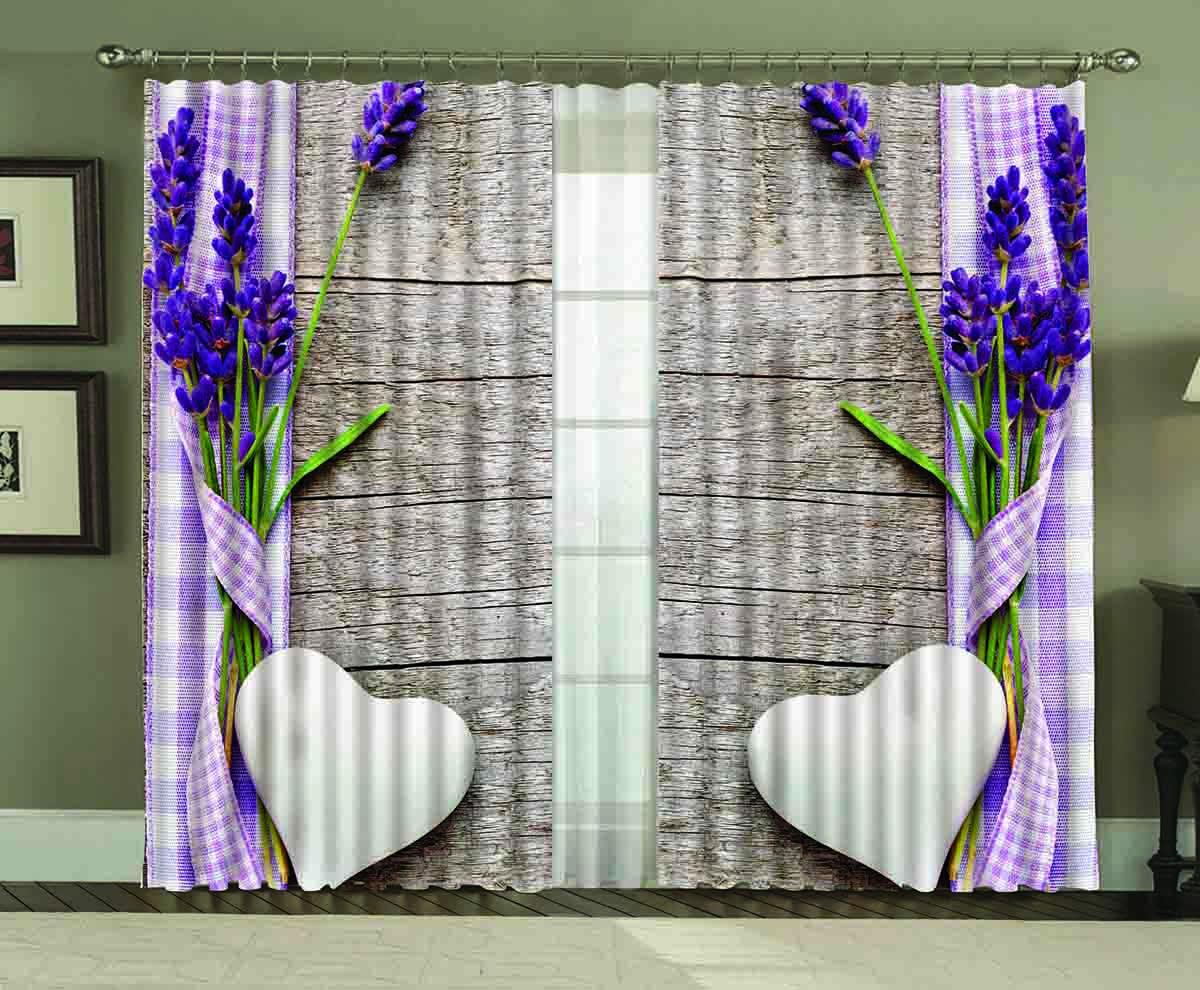 Комплект штор МарТекс Кардик, цвет: фиолетовый, белый, серый, высота 270 см16-1301-1Комплект штор МарТекс Кардик, выполненный из качественного габардина, великолепно украсит любое окно. Ткань с печатным оригинальным рисунком привлечет к себе внимание и органично впишется в интерьер помещения. Этот комплект будет долгое время радовать вас и вашу семью! В комплекте 2 шторы: ширина - 150 см,высота - 270 см.
