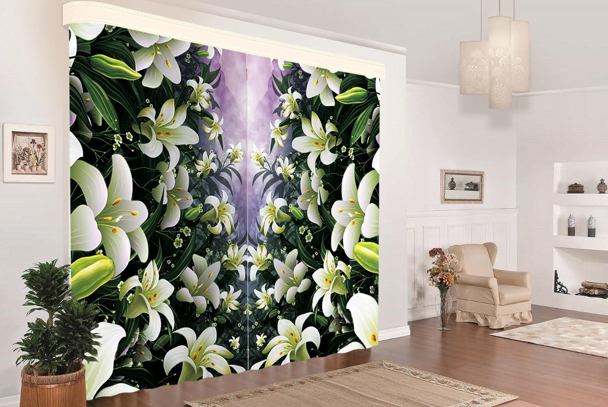 Комплект штор МарТекс Белые лилии, цвет: черный, белый, высота 270 см16-1430-1Комплект штор МарТекс Белые лилии, выполненный из качественного габардина, великолепно украсит любое окно. Ткань с печатным оригинальным рисунком привлечет к себе внимание и органично впишется в интерьер помещения. Этот комплект будет долгое время радовать вас и вашу семью! В комплекте 2 шторы: ширина - 150 см,высота - 270 см.