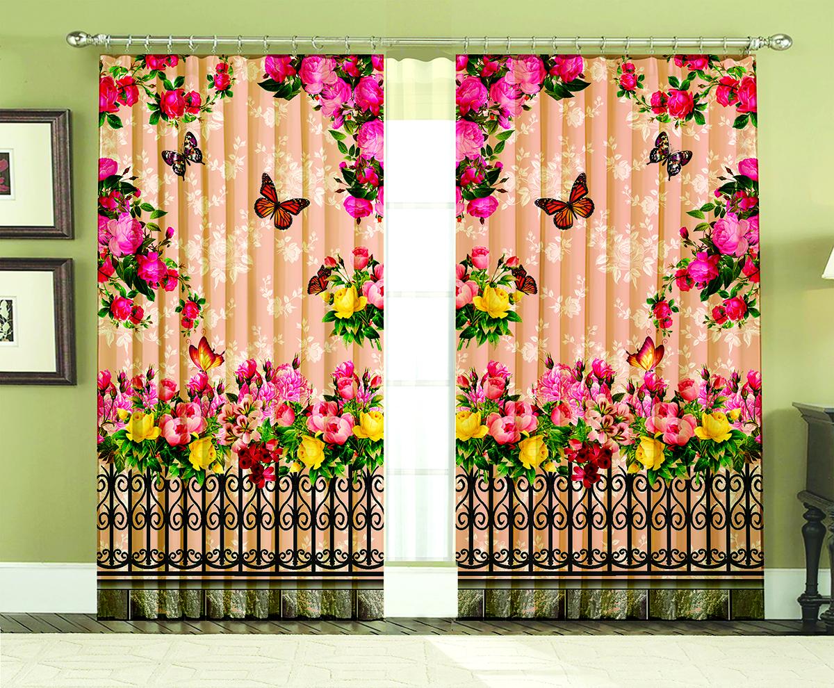 Комплект штор МарТекс Майский сад, 150 х 270 см16-1435-1Комплект штор МарТекс, выполненный из качественного полиэстера, великолепно украсит любое окно. Комплект состоит из двух штор. Ткань с печатным оригинальным рисунком привлечет к себе внимание и органично впишется в интерьер помещения. Этот комплект будет долгое время радовать вас и вашу семью!В комплекте: 2 шторы.