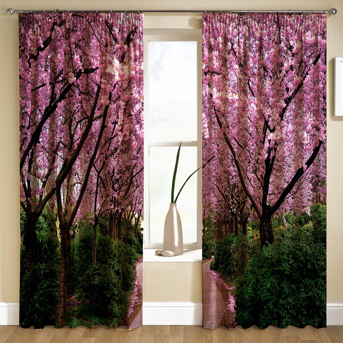 Комплект штор МарТекс Розовая долина, цвет: фиолетовый, зеленый, черный, высота 270 см16-1446-1Комплект штор МарТекс Розовая долина, выполненный из качественного габардина, великолепно украсит любое окно. Ткань с печатным оригинальным рисунком привлечет к себе внимание и органично впишется в интерьер помещения. Этот комплект будет долгое время радовать вас и вашу семью! В комплекте 2 шторы: ширина - 150 см,высота - 270 см.