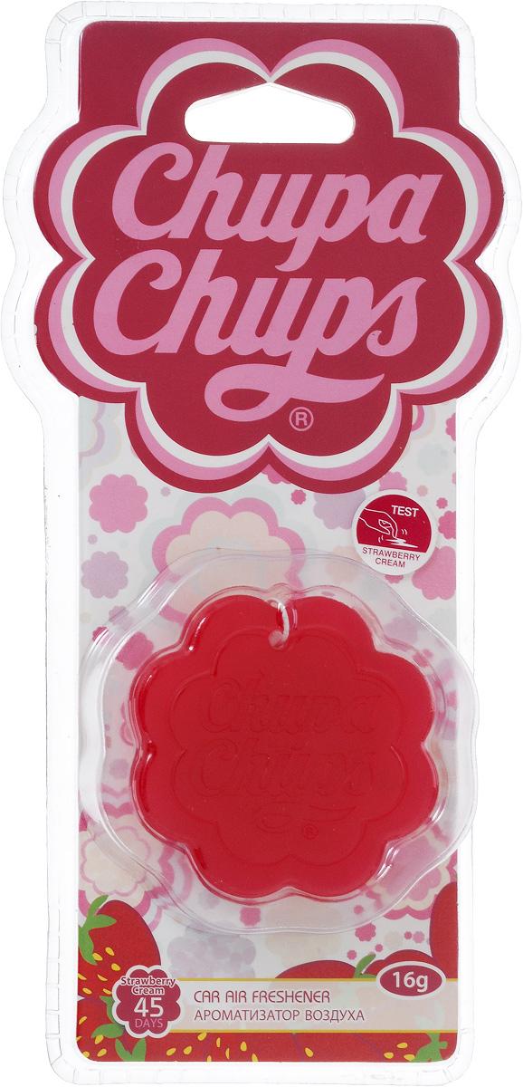 Ароматизатор воздуха Chupa Chups Клубника со сливками, подвесной, гелевый, 18 г ароматизатор воздуха chupa chups ваниль подвесной флакон 5 мл