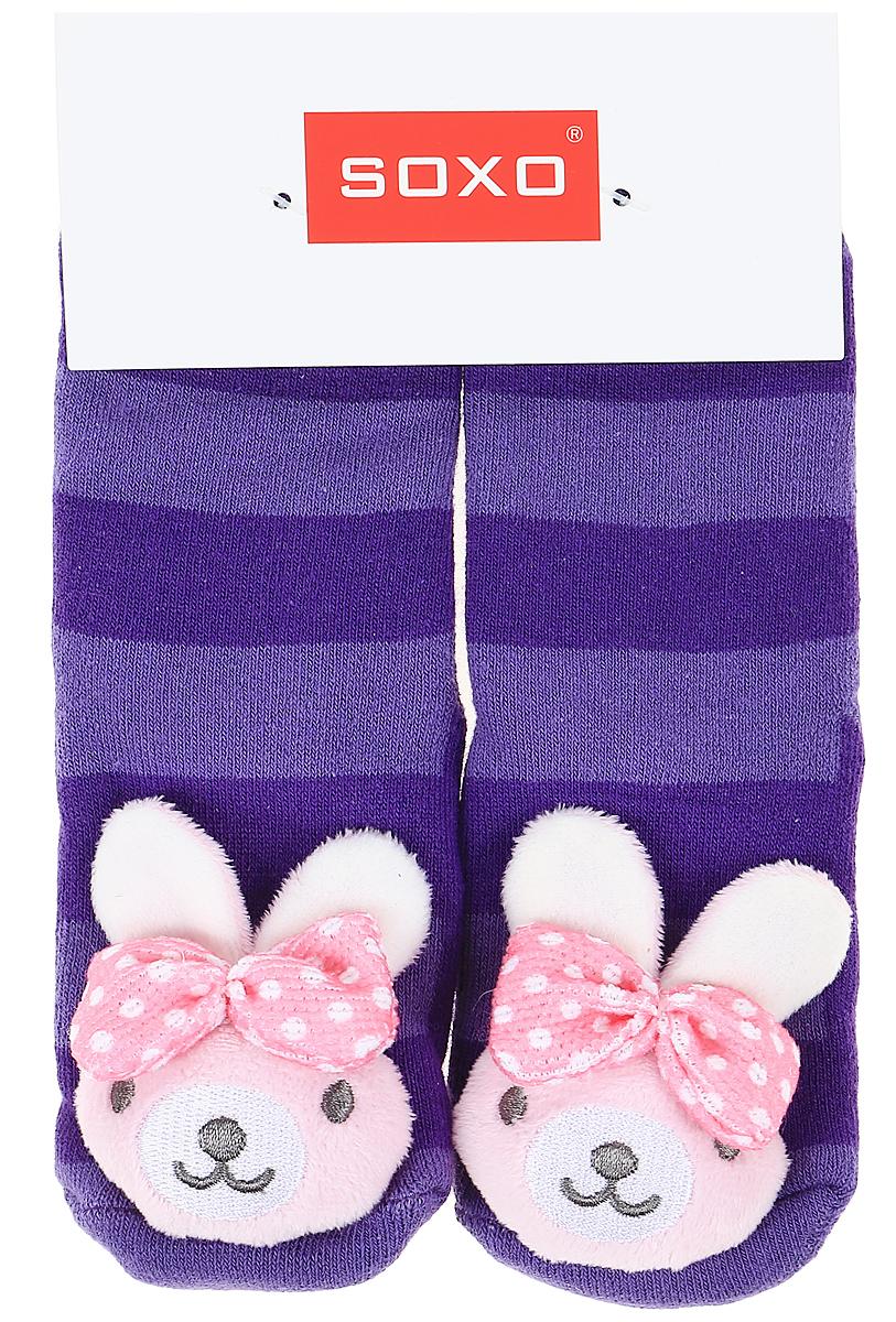 Носки для девочек Soxo, цвет: фиолетовый. 77980_2. Размер 19/2177980_2