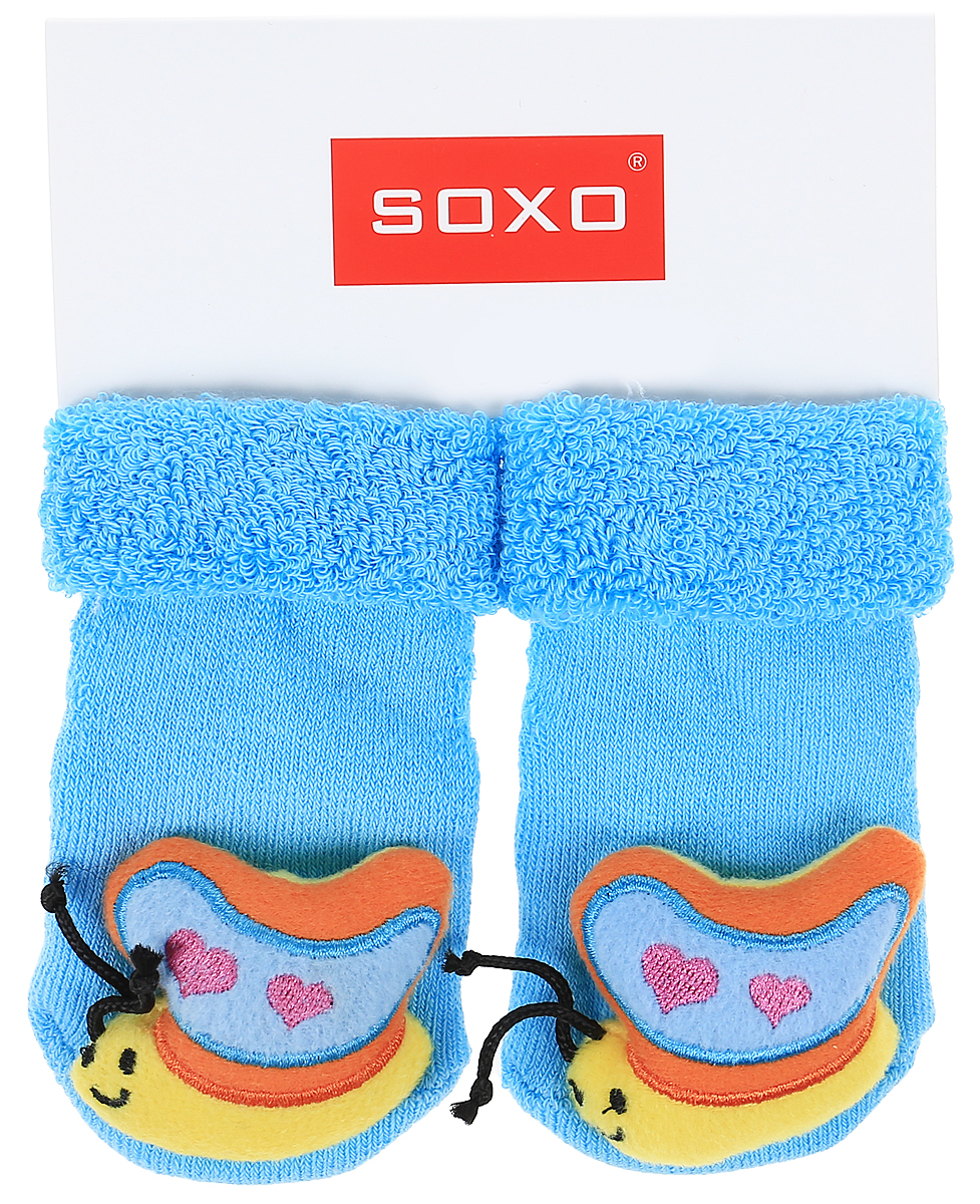 Носки детские Soxo, цвет: ярко-голубой. 77805_1. Размер 16/1877805_1