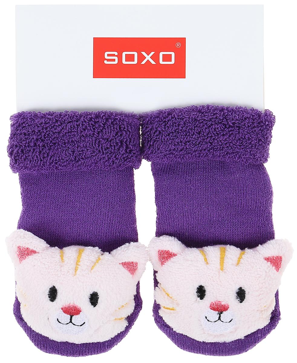 Носки для девочек Soxo, цвет: фиолетовый. 77805_2. Размер 16/1877805_2