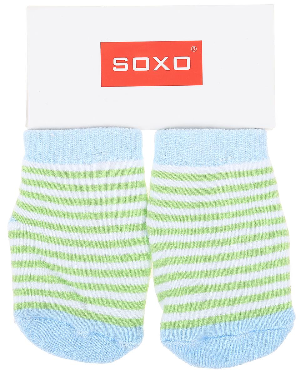 Носки детские Soxo, цвет: голубой, зеленый. 59351_1. Размер 16/1859351_1