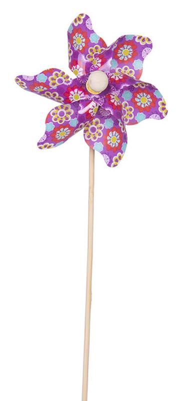 Fresh Trend Вертушка Ветрячок Разноцветные ромашки цвет сиреневый
