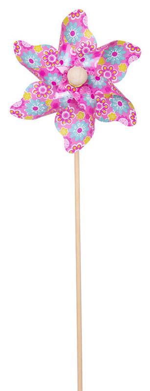 Fresh Trend Вертушка Ветрячок Разноцветные ромашки цвет розовый