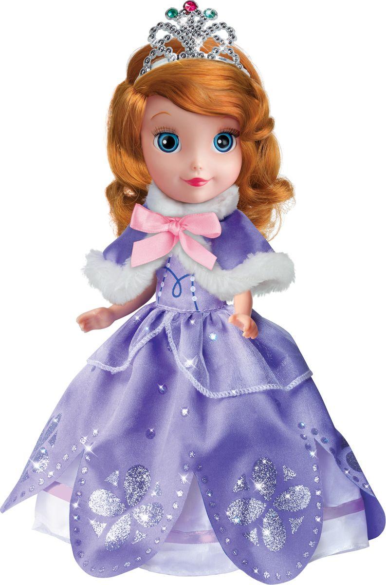 Карапуз Кукла озвученная Принцесса София Disney с набором одежды цвет фиолетовый карапуз кукла рапунцель со светящимся амулетом 37 см со звуком принцессы дисней карапуз