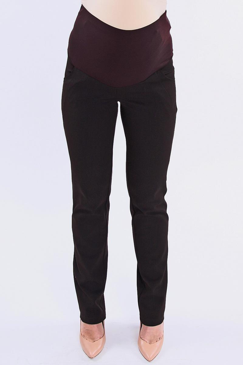 Брюки для беременных Nuova Vita, цвет: теммно-коричневый. 5431.3. Размер 445431.3Стильные брюки для беременных Nuova Vita выполнены из плотного эластичного материала. Материал приятный на ощупь, не вызывает раздражений и надежно сохраняет тепло. Модель прямого кроя с удобным бандажом на живот и регулируемой резинкой, позволяющей носить эти брюки вплоть до 9 месяца беременности. Спереди брюки дополнены двумя втачными карманами с косыми срезами, сзади - двумя накладными карманами. Такие брюки подарят вам комфорт и свободу движений и займут достойное место в гардеробе молодой мамы.