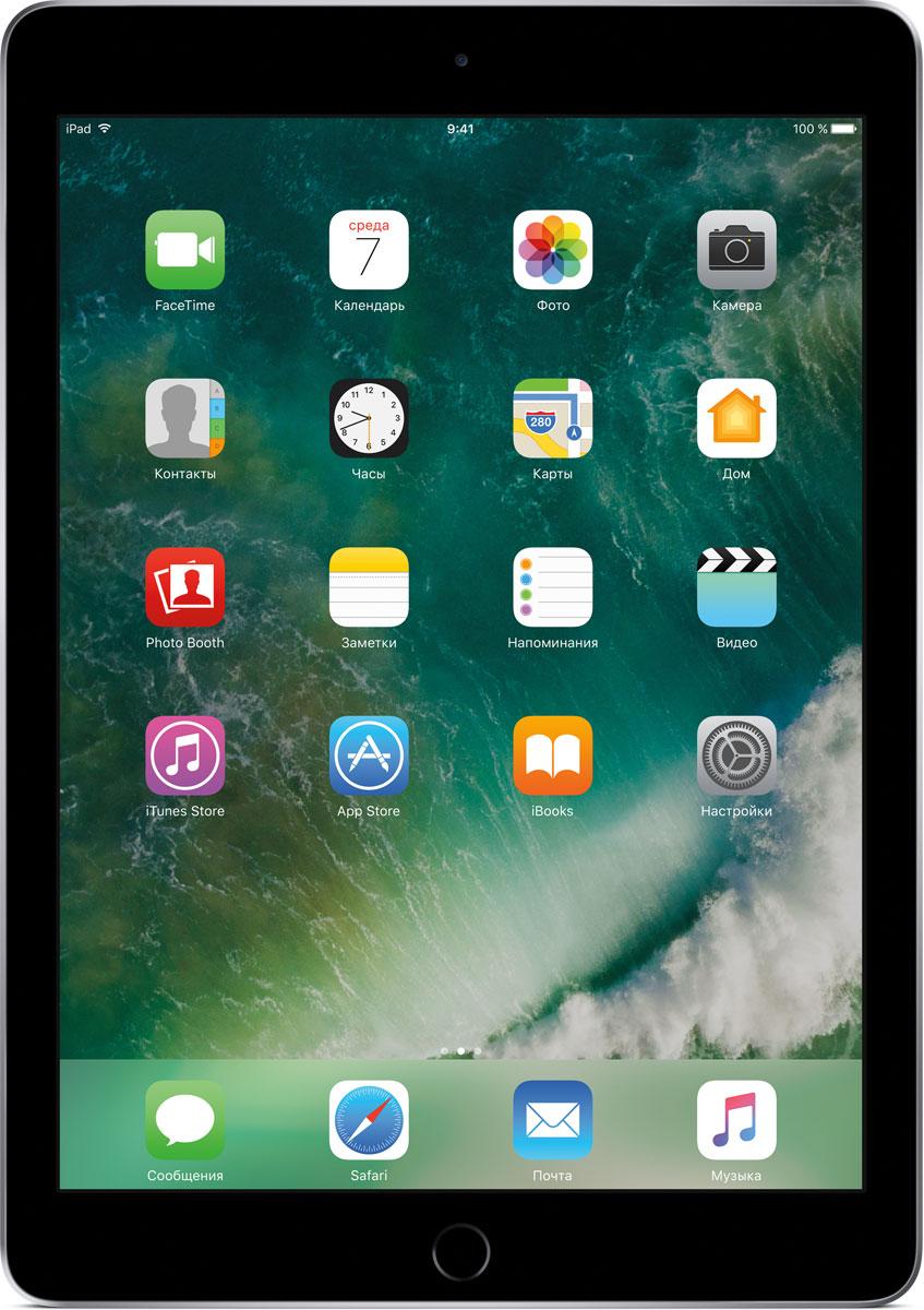 Apple iPad 9.7 Wi-Fi 32GB, Space GreyMP2F2RU/AДелайте проекты, листайте сайты, играйте и учитесь. У iPad для этого есть великолепный дисплей, высокая производительность и приложения для ваших любимых занятий. Где хотите. Легко и волшебно.Фотографии, шоппинг, презентации - на ярком 9,7-дюймовом дисплее Retina всё выглядит живо, реалистично и невероятно детально.Производительность, необходимую для быстрой и плавной работы приложений, обеспечивает 64-битный процессор A9. Открывайте интерактивные обучающие приложения, играйте в игры со сложной графикой и пользуйтесь двумя приложениями одновременно. При этом ваше устройство будет работать без подзарядки до 10 часов.Все приложения для iPad создаются с учётом его размеров и производительности. И в App Store их очень много. Вы обязательно найдёте то, что вам нужно.Ваш отпечаток пальца - это идеальный пароль, который невозможно угадать или забыть. Технология Touch ID позволяет мгновенно разблокировать iPad и защитить личные данные в приложениях. Вы также можете использовать её для покупок через Apple Pay в приложениях и на сайтах.Снимать фото и видео на iPad проще простого. Его 8-мегапиксельная камера позволяет делать чёткие и яркие фотографии и записывать HD-видео 1080p, которые затем можно отредактировать прямо на iPad с помощью Фото, iMovie или вашего любимого приложения из App Store. А фронтальная HD-камера FaceTime идеальна для видеозвонков и селфи.iPad идеально взаимодействует с другими устройствами. Вы можете начать письмо на iPhone и закончить его на iPad. Или скопировать картинку, видео и текст на iPad, а затем вставить их на Mac. А для моментальной передачи файлов между устройствами по беспроводной сети удобно пользоваться функцией AirDrop.Планшет сертифицирован EAC и имеет русифицированный интерфейс, меню и Руководство пользователя.Как выбрать планшет для ребенка. Статья OZON Гид