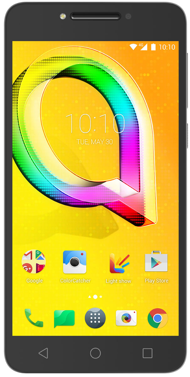 Alcatel OT-5085D A5 LED, Metallic Silver - Смартфоны