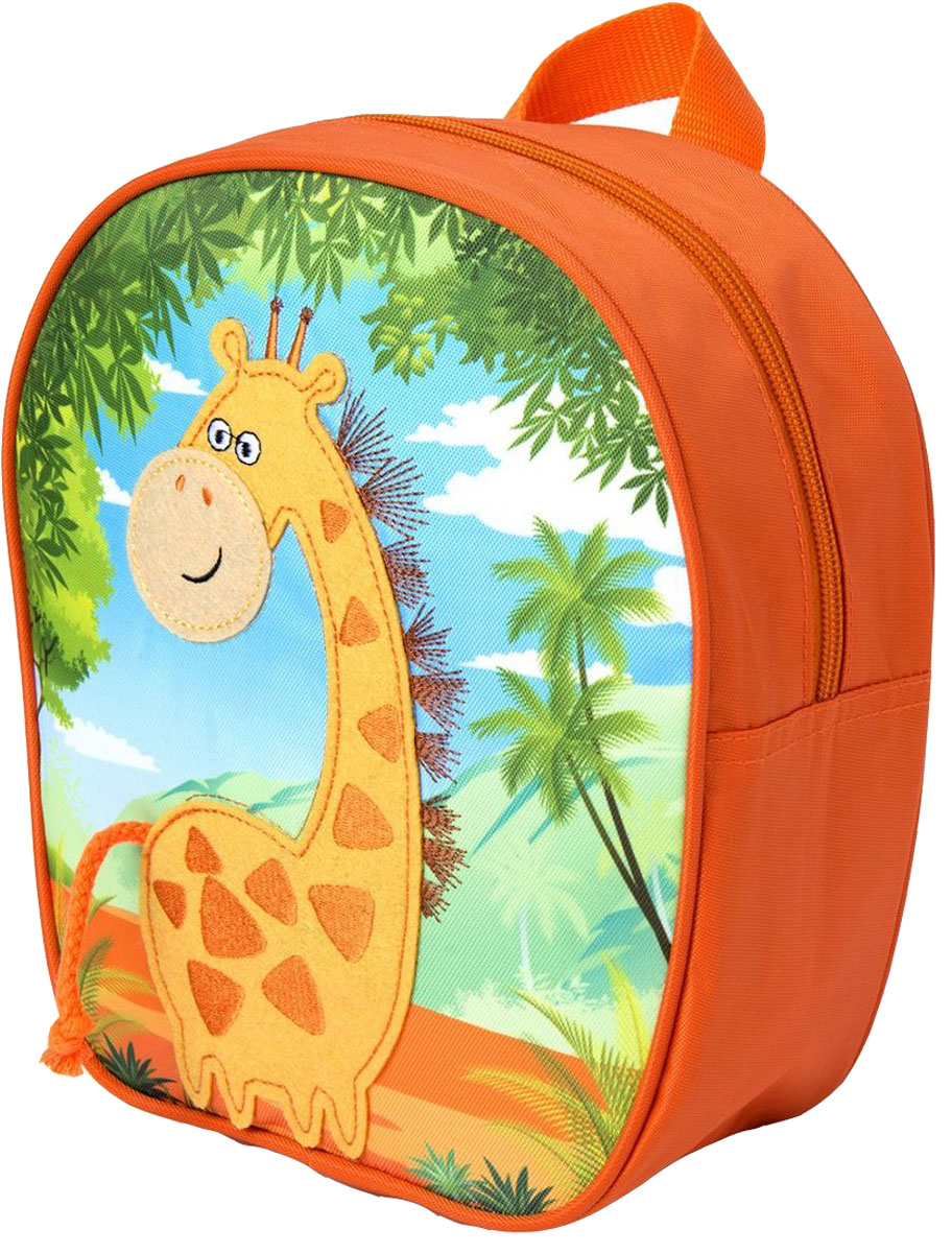 Росмэн Рюкзак дошкольный Жираф цвет оранжевый32006Дошкольный рюкзак Росмэн Жираф - это удобный, легкий и компактный аксессуар для вашего малыша, который обязательно пригодится для прогулок и детского сада.В его внутреннее отделение на застежке-молнии можно положить игрушки, предметы для творчества или книжку формата А5.Благодаря регулируемым лямкам, рюкзачок подходит детям любого роста. Удобная ручка помогает носить аксессуар в руке или размещать на вешалке.Износостойкий материал с водонепроницаемой основой и подкладка обеспечивают изделию длительный срок службы и помогают содержать вещи сухими в сырую погоду.Аксессуар декорирован ярким принтом (сублимированной печатью), устойчивым к истиранию и выгоранию на солнце, аппликацией из фетра, вышивкой.
