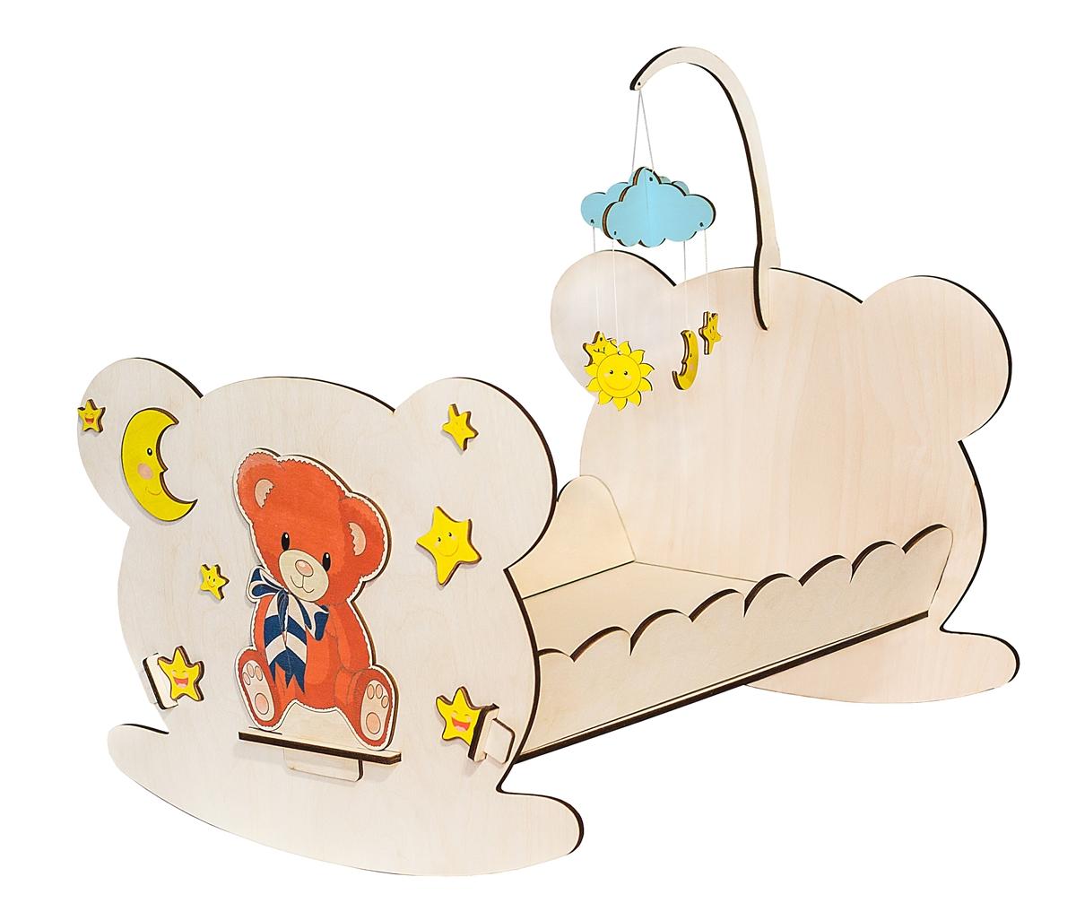 Большой Слон Кроватка для куклы Мишутка обычная кроватка уренская мебельная фабрика мишутка 14 с ящиком темная