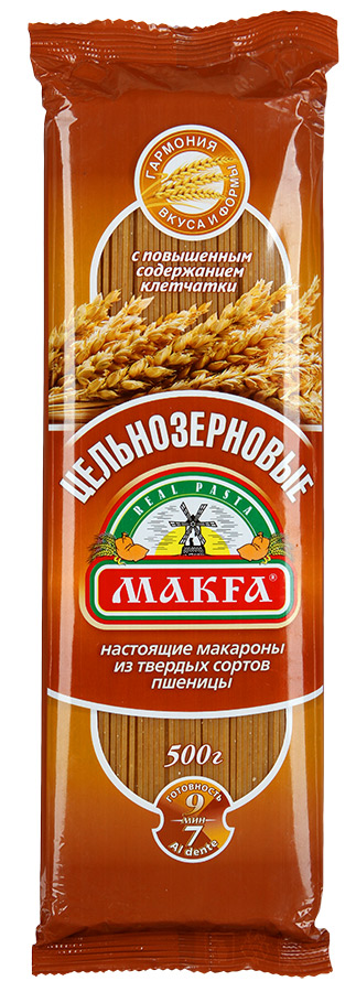 Makfa вермишель длинная цельнозерновая, 500 г хлебная смесь хлеб из цельносмолотой муки