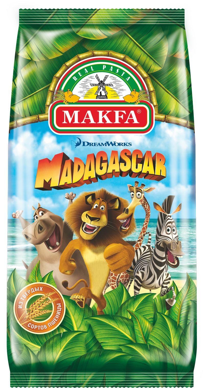 Makfa Madagascar макароны, 300 г297-12Что может быть увлекательнее, чем обед или ужин в компании любимых героев из популярного мультфильма!Макаронные изделия Мадагаскар MAKFA выполнены в форме десяти любимых героев мультфильма Мадагаскар студии Dream Works.Лев Алекс, Зебра Марти, Бегемотиха Глория, Жираф Мелман, Король Джулиан и веселые Пингвины помогут накормить даже самого капризного ребенка.