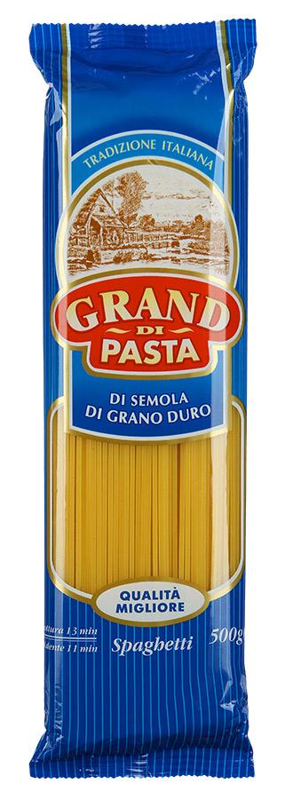 Grand Di Pasta спагетти спагеттини, 500 г1018-5Изделия макаронные группы А, высшего сорта.Лайфхаки по варке круп и пасты. Статья OZON Гид