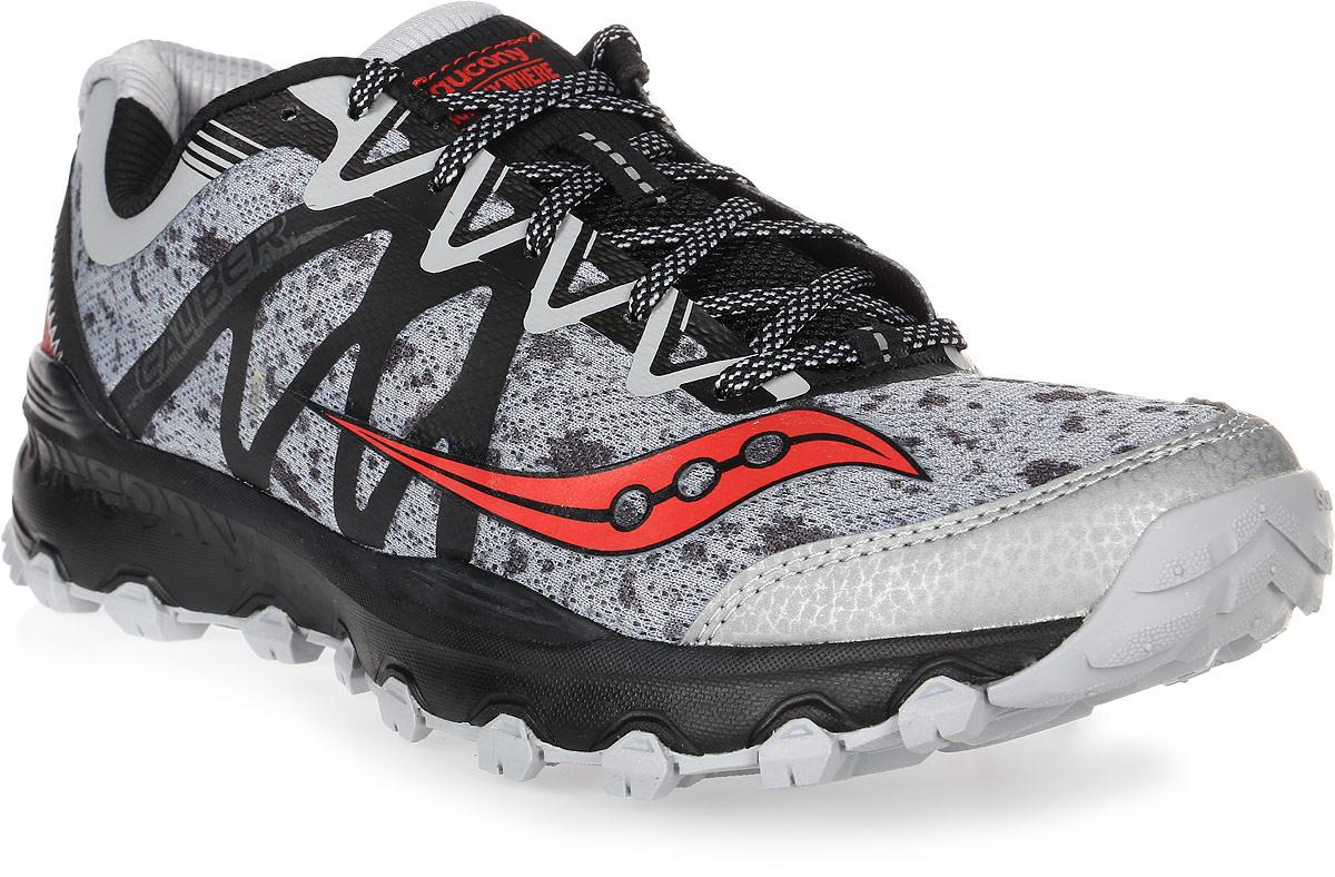 Кроссовки для бега мужские Saucony Grid Caliber Tr, цвет: серый, черный. S25326-2. Размер 8,5 (41)