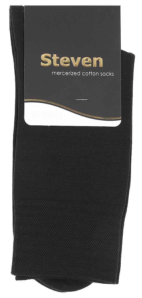 Носки мужские Steven, цвет: черный. 087 (AB8). Размер 41/43087 (AB8)Носки Steven изготовлены из качественного материала на основе хлопка. Модель имеет мягкую эластичную резинку. Носки хорошо держат форму и обладают повышенной воздухопроницаемостью.