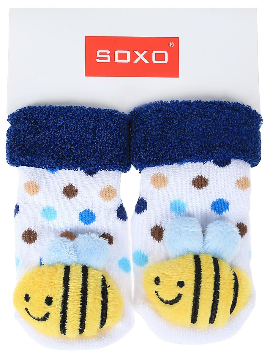 Носки детские Soxo, цвет: белый, синий. 68698_5. Размер 16/1868698_5