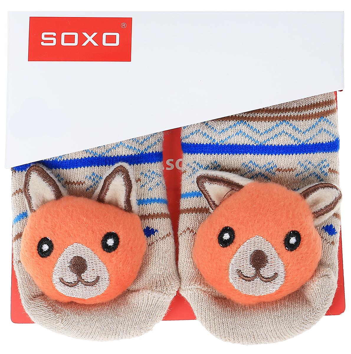 Носки детские Soxo, цвет: бежевый, синий. 46146_4. Размер 16/1846146_4