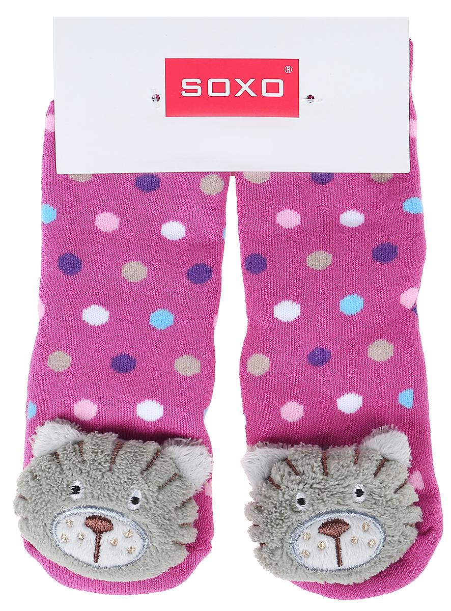 Носки для девочек Soxo, цвет: розовый. 68728_1. Размер 19/2168728_1