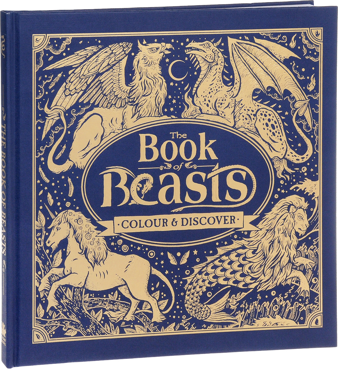 The Book of Beasts: Colour & Discover british museum around the world colouring book
